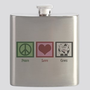 Peace Love Cows Flask