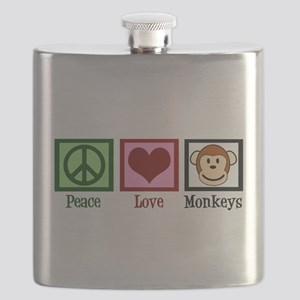 Peace Love Monkeys Flask