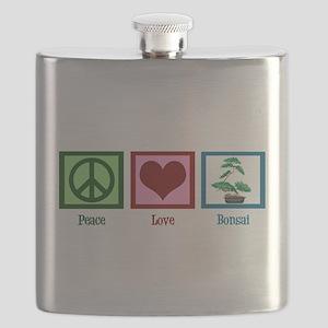Peace Love Bonsai Flask