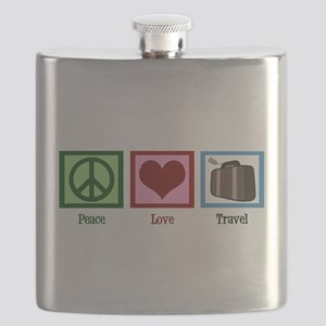 Peace Love Travel Flask