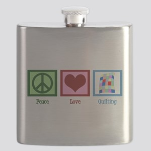 Peace Love Quilting Flask