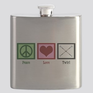 Peace Love Twirl Flask
