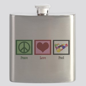 Peace Love Pool Flask