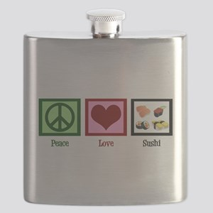 Peace Love Sushi Flask
