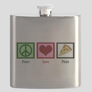 Peace Love Pizza Flask