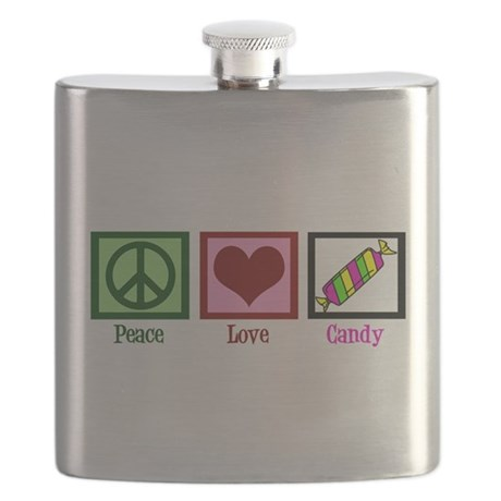 Peace Love Candy Flask