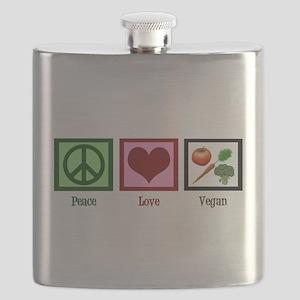 Peace Love Vegan Flask
