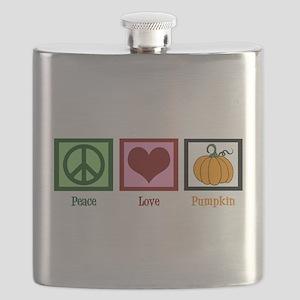 Peace Love Pumpkin Flask