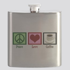 Peace Love Coffee Flask