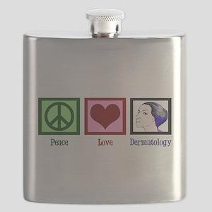 Peace Love Dermatology Flask