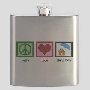 Peace Love Insurance Flask