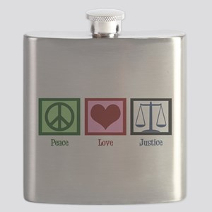 Peace Love Justice Flask
