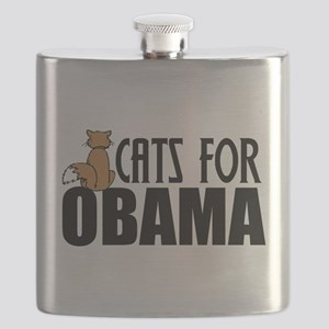 Cats for Obama Flask