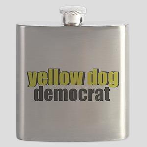 Yellow Dog Democrat Flask