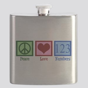 Peace Love Numbers Flask