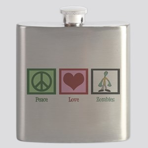 Peace Love Zombies Flask