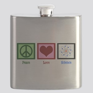 Peace Love Science Flask