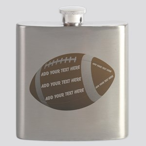 Personalizable Football Flask