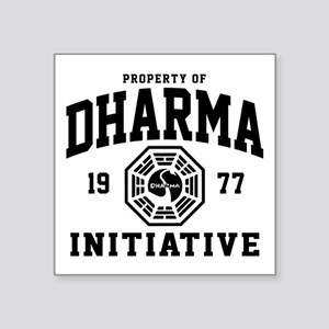 "Dharma Initiative Square Sticker 3"" x 3"""