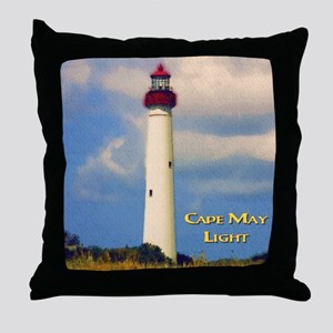 Cape May Light Watercolor Throw Pillow