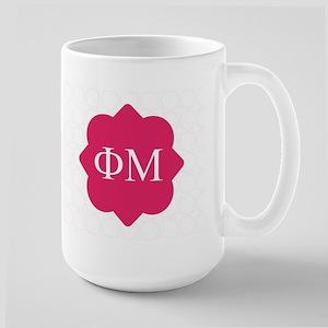 Phi Mu Pattern Large Mug
