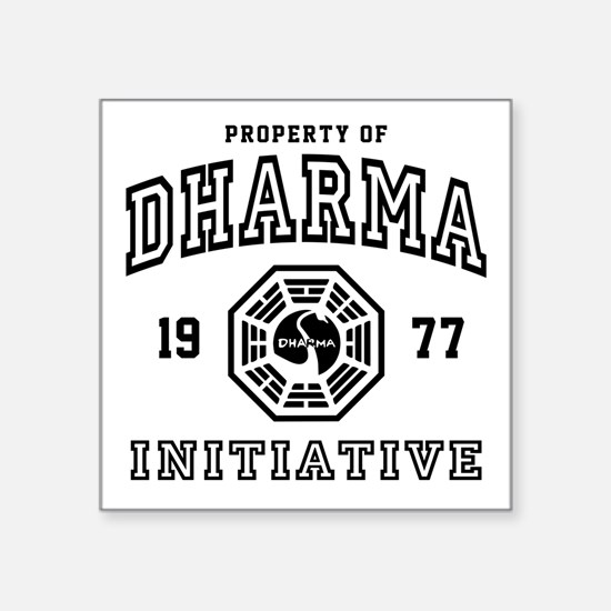 "Shower Dharma Ini Square Sticker 3"" x 3"""