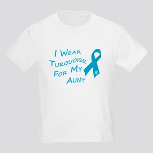 I Wear Turquoise for My Aunt Kids Light T-Shirt