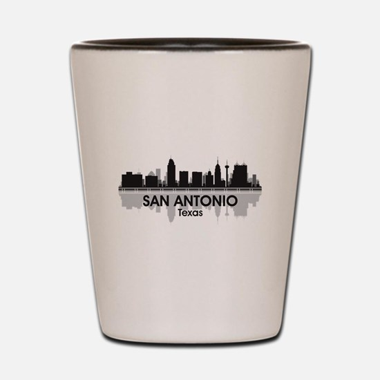San Antonio Skyline Shot Glass