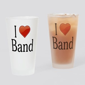 I Love Band Drinking Glass