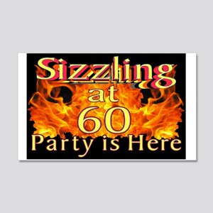 Sizzling at 60 Party 20x12 Wall Decal