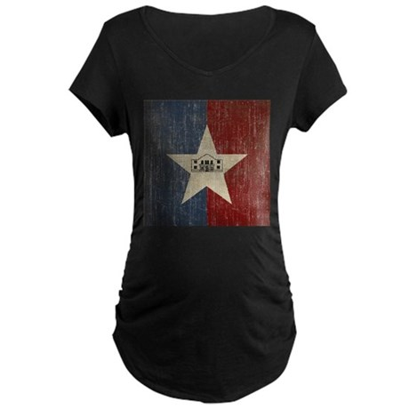 Vintage San Antonio Flag Maternity Dark T-Shirt