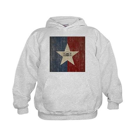 Vintage San Antonio Flag Kids Hoodie