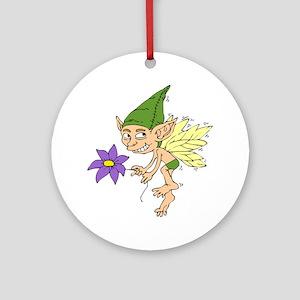 Boy Fairy Ornament (Round)