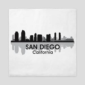 San Diego Skyline Queen Duvet