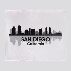 San Diego Skyline Throw Blanket
