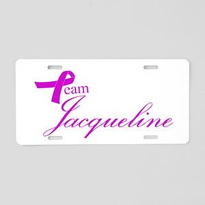 Team Jacqueline Aluminum License Plate