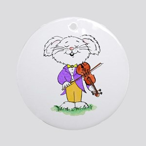 mouse with violin - Ornament (Round)