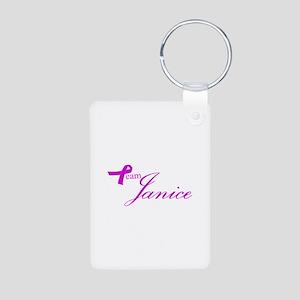 Team Janice Aluminum Photo Keychain