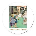 Hansel and Gretel Round Car Magnet