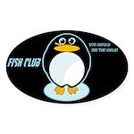 FISH CLUB Oval Sticker