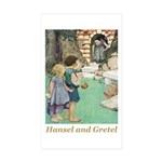 Hansel and Gretel Sticker (Rectangle 50 pk)