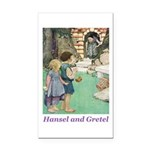 Hansel and Gretel Rectangle Car Magnet