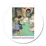 Hansel and Gretel Round Car Magnet