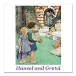 Hansel and Gretel Square Car Magnet 3