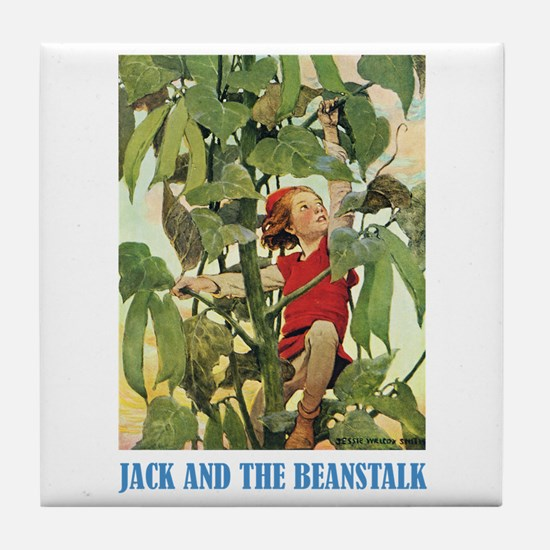 Jack And The Beanstalk Tile Coaster