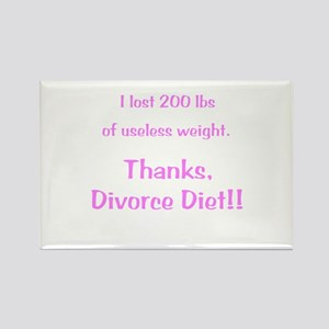 Divorce Diet Rectangle Magnet