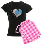 Love Makes the World go 'Round Women's Dark Pajama