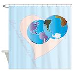 Love Makes the World go 'Round Shower Curtain