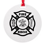 Fire Rescue Round Ornament