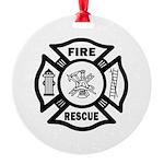Fire Rescue Round Ornament